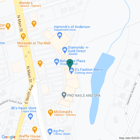 Map of Main St - Anderson, SC