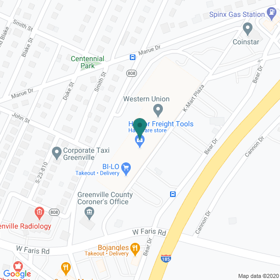 Map of Mills Ave - Greenville, SC