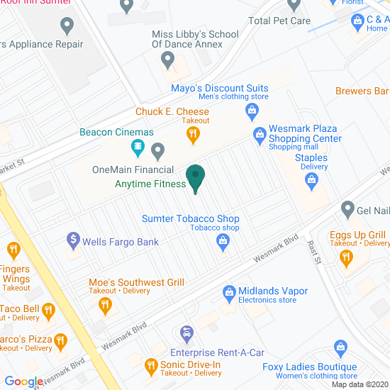 Map of Sumter, SC